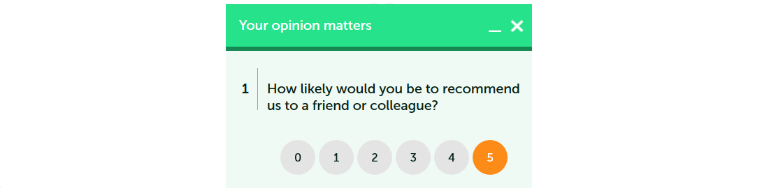 survey widgets